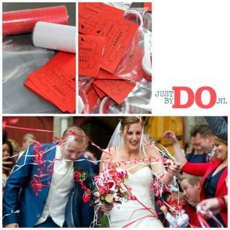 Bruiloft strooien